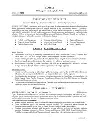professional resume writers entertainment industry internships kt    entertainment executive resume page