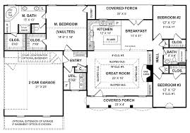 House Plan  B The SPRINGFIELD B floor plan  Beautiful one    House Plan  B The SPRINGFIELD B floor plan  Beautiful one story plan  Formal Dining Room and large open living space  Four bedrooms   split