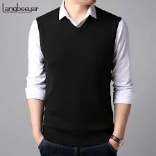 <b>2018</b> New Fashion Vest <b>Sweater Man Pullovers</b> Sleeveles V Neck ...