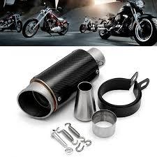 28/38-<b>51mm Motorcycle Carbon Fiber</b> GP Cylinder Exhaust Muffler ...