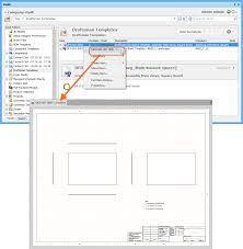 creating and editing items directly through an vault example of accessing the command to launch direct editing of an existing revision of a draftsman document template item