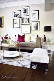 chic living room dcor: living in  sq ft found this beautiful gold side table at homegoods that blends in apartment decor living roomgold