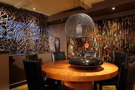 dining room funky wall interior texture and globe pendant lamp design feat unique round dining table beautiful funky dining room lights