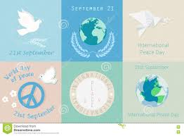 world peace day hippie sign international holiday poster stock international day of peace design symbols different poster template logo stock images