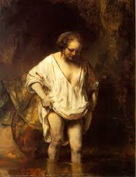 john berger on rembrandt the blue suitcase rembrandt van rijn hendrickje bathing in a river 1654 oil on panel