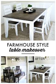 Farm Style Dining Room Tables 1000 Ideas About Dining Table Redo On Pinterest Dining Tables
