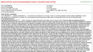 school teacher cover letters   special education secondary school teacher