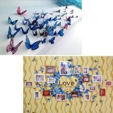 <b>24pcs Multicolor</b> Double Layer 3D Butterfly Wall Sticker PVC L9N7 ...