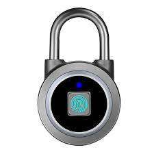 L34 Anti-theft Security <b>Fingerprint</b> Lock Electronic Padlock for Home ...