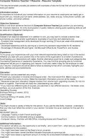 Present Your Education In Reserve Chronological Order Computer Teacher Resume Template Vntask com