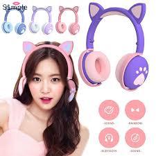 【<b>Headphones</b>】 NEW <b>BK1</b> Cat Ear <b>Headset</b> With <b>Bluetooth</b> Led ...