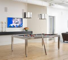 urban loft residence scandinavian family room billiard room lighting