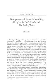 wampeters and foma misreading religion in cat s cradle and the new critical essays on kurt vonnegut new critical essays on kurt vonnegut