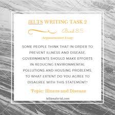 health ielts writing taskargumentative essay of band – topic illness and disease