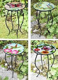 Iron/Glass Round <b>Mosaic</b> Design <b>Side Table</b> Garden Outdoor Patio ...