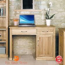 baumhaus oak desk single pedestal solid oak mobel home office furniture baumhaus mobel oak hidden office computer