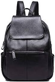 NIGEDU Women Backpacks Simple Genuine Leather ... - Amazon.com