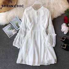 Runway Designer Dress <b>2019</b> Summer <b>Women White Elegant</b> Flare ...