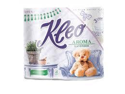 <b>Бумага туалетная Kleo Арома</b>, Лаванда 3 слоя 4 рулона белый с ...