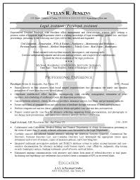 legal assistant resume template sample resume legal assistant