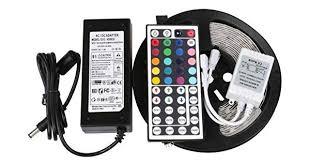 RGB <b>Led Strip Waterproof 5M</b> SMD 5050 300 LEDs/Roll 24 keys IR ...