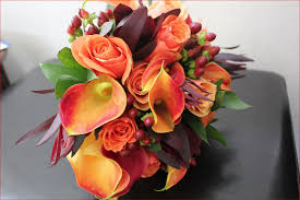 ideas burnt orange: purple and burnt orange wedding flowers