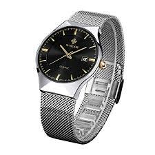 <b>WWOOR Top</b> Luxury <b>Brand</b> Watch <b>Men</b> Ultra Thin Stainless Steel