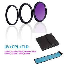 Buy FidgetGear <b>UV</b> + CPL + FLD Filter Super Slim SLR Camera ...