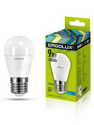 Набор из 10 светодиодных <b>лампочек</b> LED 9W 4500К <b>E27 Ergolux</b> ...