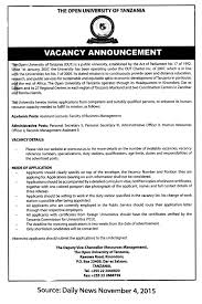 assistant lecturer personal secretary ii personal secretary iii job description