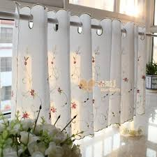 embroidered rustic kitchen curtain flower