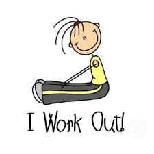 Image result for cartoon working out