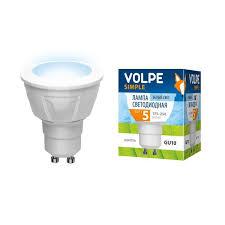 <b>Лампа</b> светодиодная <b>Volpe LED</b>-<b>JCDR</b>-<b>5W</b>/<b>NW</b>/<b>GU10</b>/O картон ...