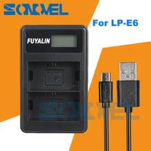 LPE6 LP-E6 USB LCD <b>двойное зарядное устройство для</b> Canon ...