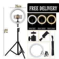 """""""26cm"""" <b>10Inch LED Metal</b> Ring Light 16/20/26cm Dimmable Selfie ..."""