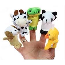 Hemore <b>5pcs</b>/Set Soft Plush <b>Animal Finger Puppets</b> Set Baby Story ...