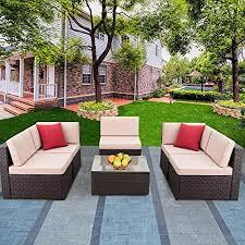 Devoko Patio Furniture Sets 6 Pieces Outdoor ... - Amazon.com