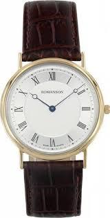 Мужские <b>часы Romanson</b> Leather <b>TL5110SMG</b>(<b>WH</b>)