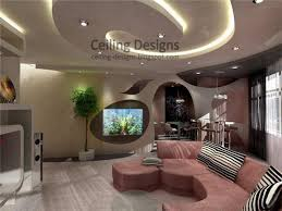 spiral tray ceiling made from pvc with hidden lighting and spread lighting spots ceiling tray lighting