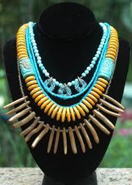 <b>Unique</b> Turquoise <b>Blue</b>, Mustard Yellow and Bronze <b>Pearl</b> Fringe ...