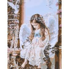 <b>Frameless DIY Digital Oil</b> Painting 16 * 20'' Little Angel Hand ...