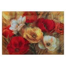 "<b>Репродукция</b> с дорисовкой на <b>раме</b> ""Красно-<b>белые</b> цветы"" 60*90 ..."