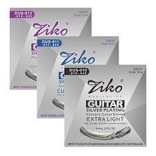 2019 <b>ZIKO DUS Series Acoustic</b> Guitar Strings 010 048 011 052 012 ...
