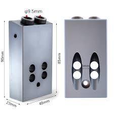 Pocket Hole Jig Kit 9.5mm <b>Aluminum Alloy</b> 6061 Wood Dowel Jig ...