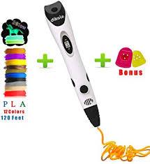 3D Pen with 12 Colors 120 Ft PLA Filaments 1.75 mm ... - Amazon.com