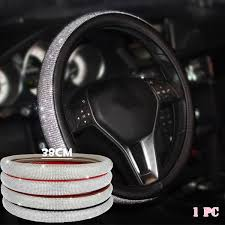 1 Pc New Diamond Leather Steering Wheel Cover with <b>Bling Bling</b> ...
