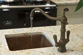 hammered copper kitchen sink: image of hammered copper kitchen sink