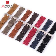 7 Color Handmade <b>Matte</b> Leather Watch Band Men Women 18mm ...