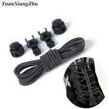 <b>1 Pair</b> Elastic <b>Shoe</b> laces Round Locking No Tie Shoelaces <b>Kids</b> ...