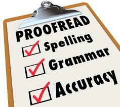 tips to create killer website content susan greene copywriter proof checklist and checked boxes next to the words spelling grammar and accuracy as the